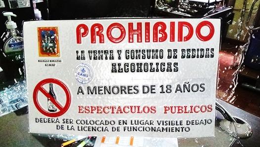 El Cartel Prohibida La Venta De Alcohol A Menores De Edad Será Obligatorio Gams